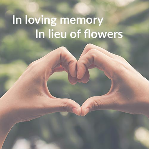 Support the youth mental health project in lieu of flowers