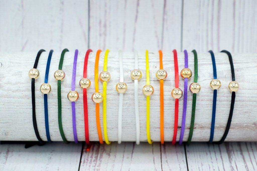 Shop 100 percent beads rainbow powerball bracelet